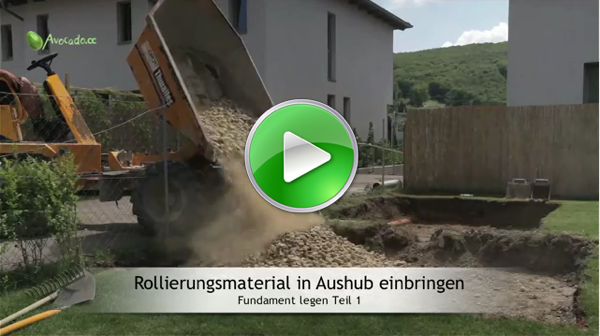 Fundament legen & betonieren Videoanleitung